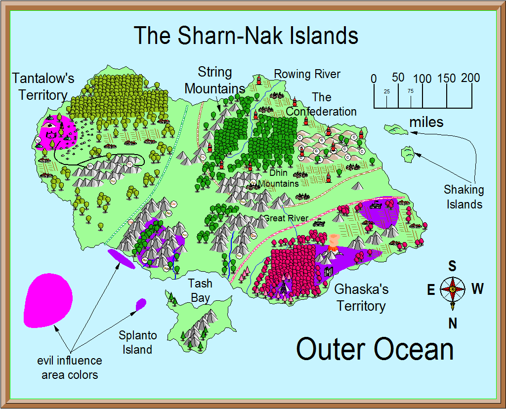 large png, Sharn Nak Islands