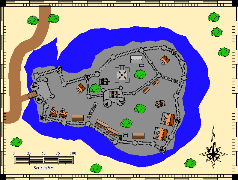 large map of Castle H, 794 x 610