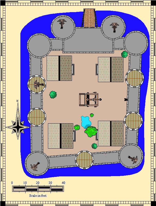 large map of Castle E, 605 x 800