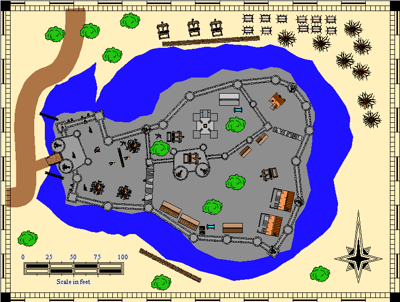 large map of Castle I, 794 x 610